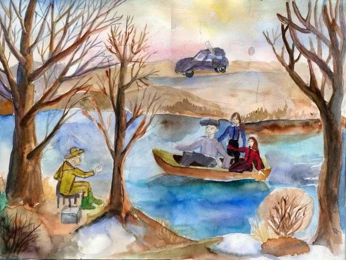 Диплом Кобыльникова Александра, 8 лет. Рыбалка на реке Увелка