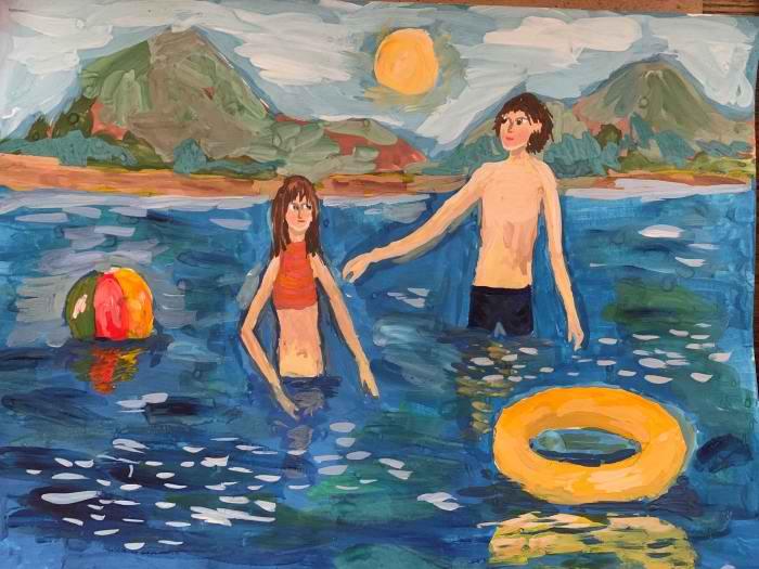 Клюшина Алиса, 11 лет, Летом на озере