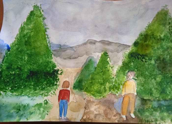 Машьянова Арина, 12 лет. Дорога в горы