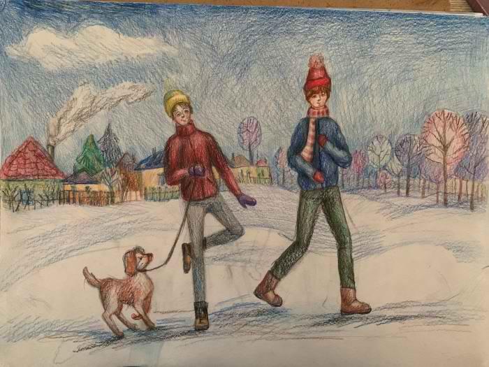 Пономарёва Яна, 11 лет, Зимняя прогулка