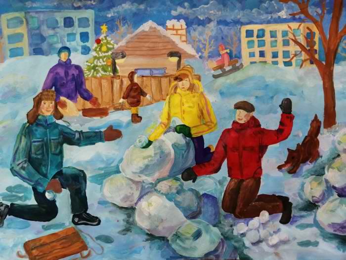 3 место Федорова Анастасия 12 лет Поиграем в снежки